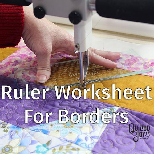 Ruler Worksheet 1