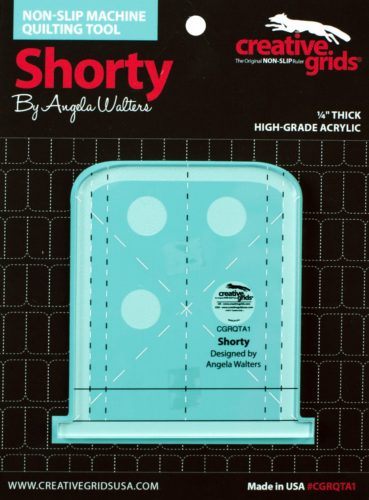 Shorty Machine Quilting Ruler Package Front e1574266697926