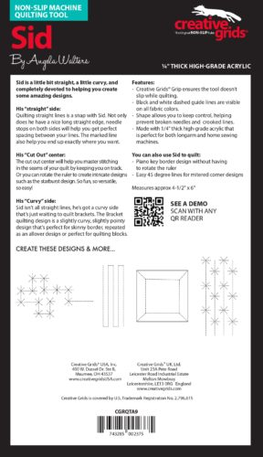 Sid Machine Quilting Ruler Instructions e1567537793191