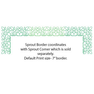 Sprout border showing corner