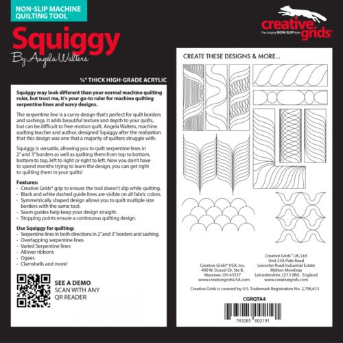 Squiggy Machine Quilting Ruler Instructions e1574266620128