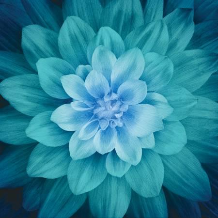 Teal Flower Panel