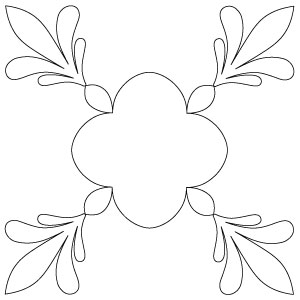 columbus finial arch blk plain