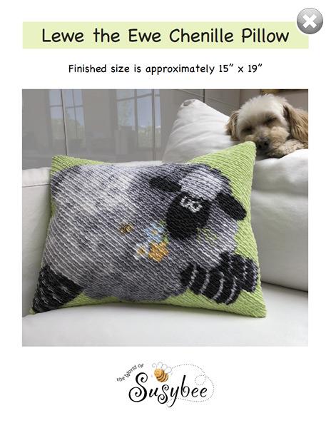 Lewe The Ewe pillow finished