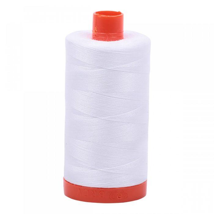 Aurifil Mako Cotton Thread - 2024 White