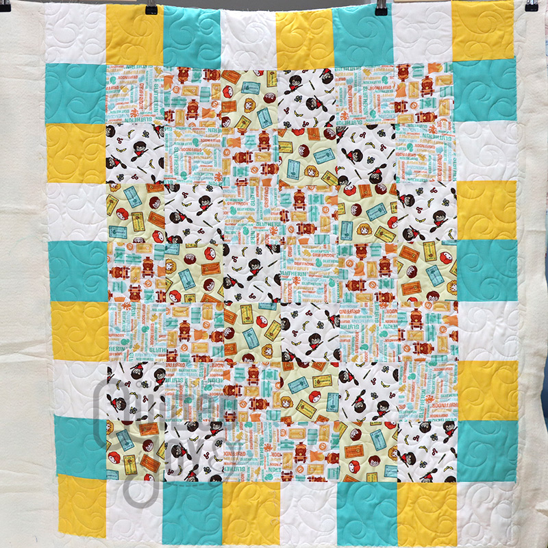 Harry Potter Baby Quilt, quilted by Quilted Joy