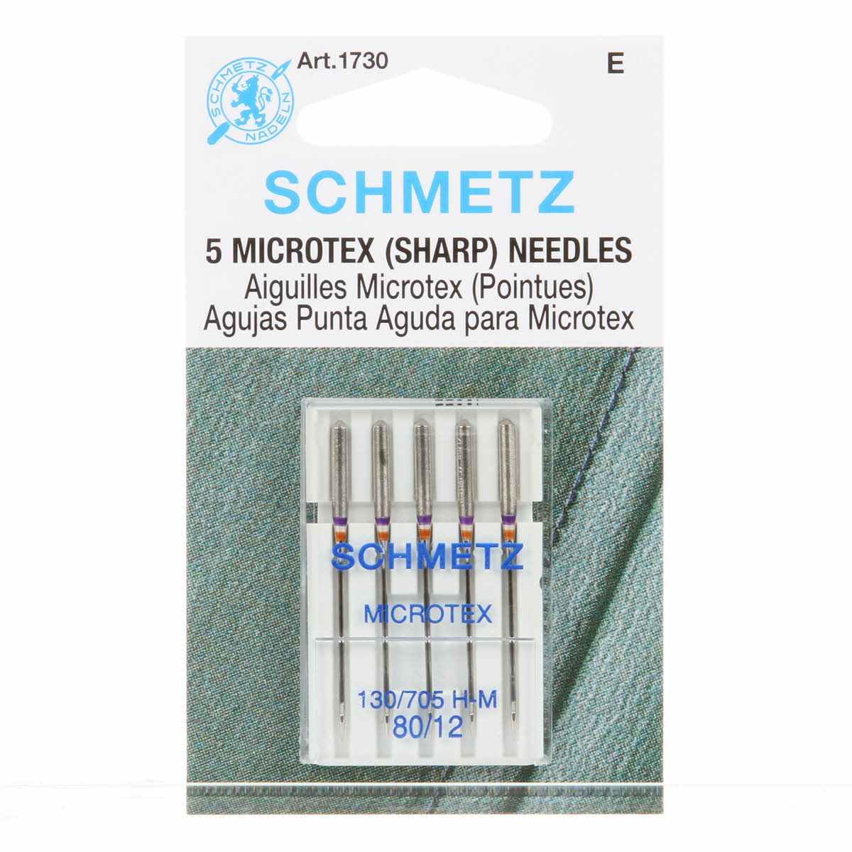Schmetz Microtex Needles 1730 80/20