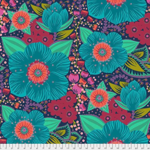 "Honorable Mention Turquoise 108"" Quilt Back Available at Quilted Joy"