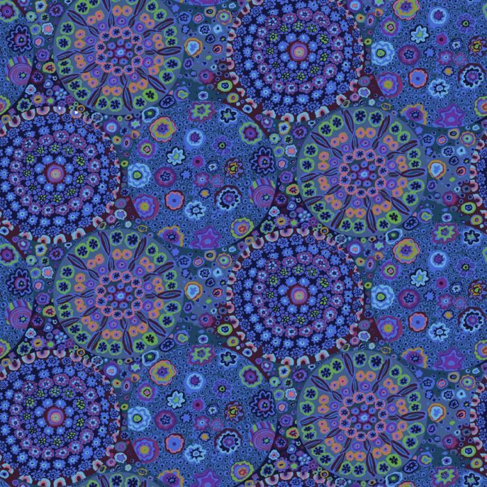 "Millefiore 108"" Quilt Back-Blue Available at Quilted Joy"
