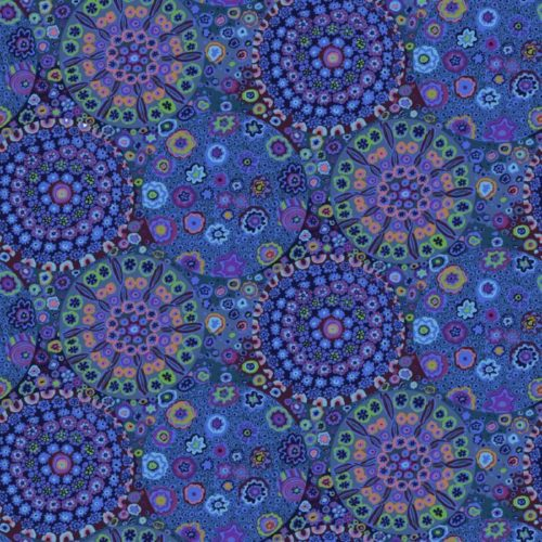 """Millefiore 108"""" Quilt Back-Blue Available at Quilted Joy"""