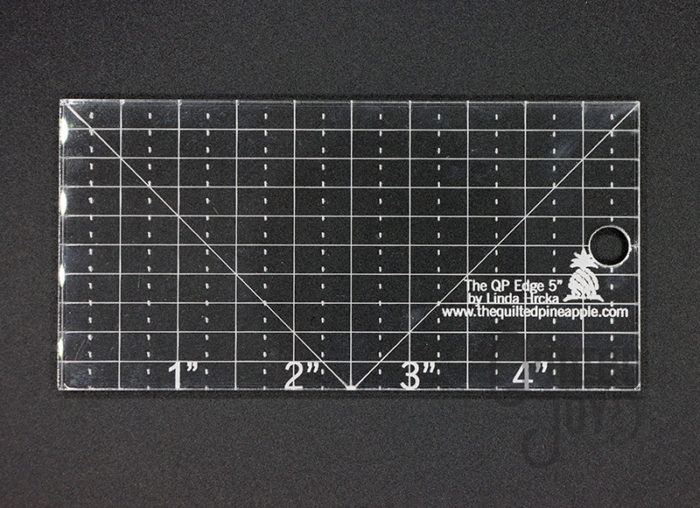 "The QP Edge 5"" straight ruler by Linda Hrcka"