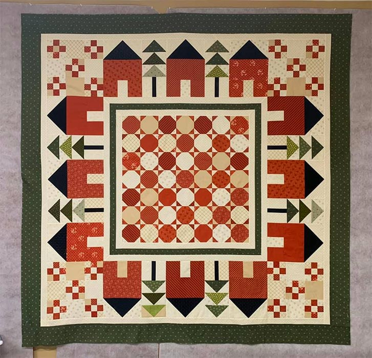 Quilted Joy Clubhouse - How Would You Quilt it? - Tracey's Houses Quilt