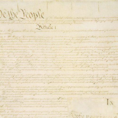 """Antique Constitution 108"""" Quilt Back"""