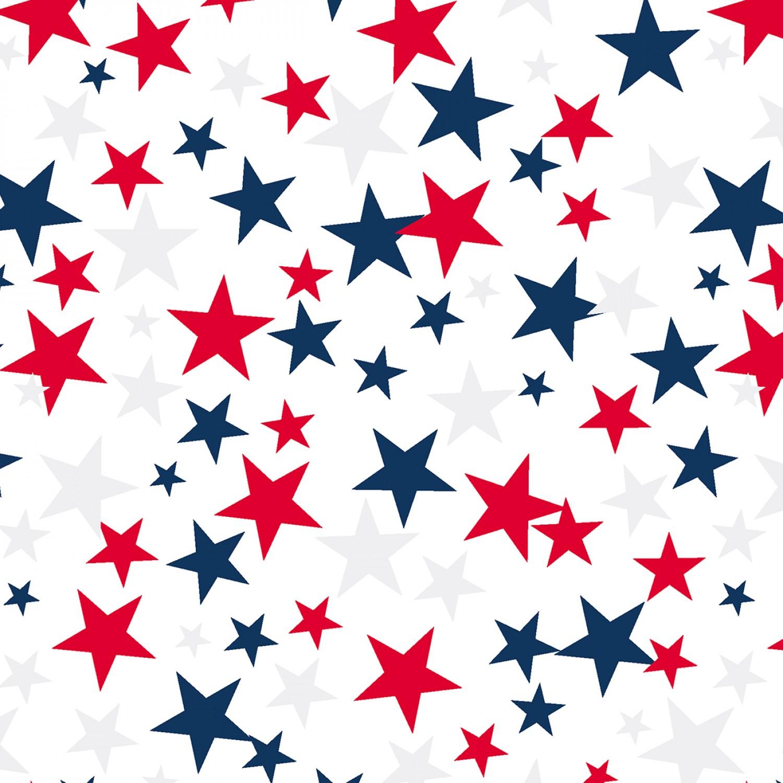 "Patriotic Stars 108"" Quilt Back"