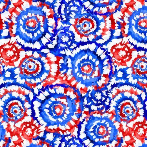 """Spin Art 108"""" Quilt Back - Patriotic"""