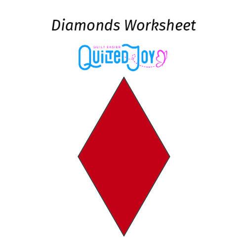 Quilted Joy's Diamond Worksheet