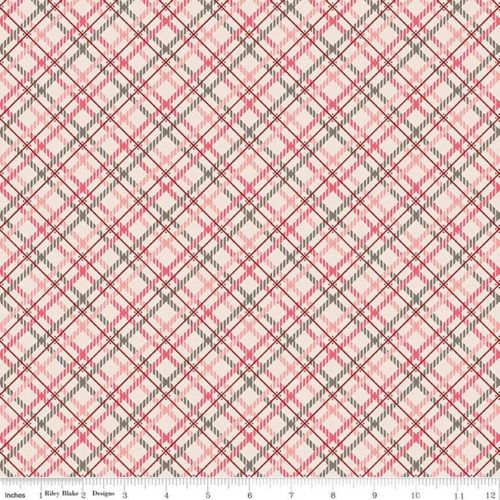 """Prim 108"""" Quilt Back - Pink Plaid, available at Quilted Joy"""