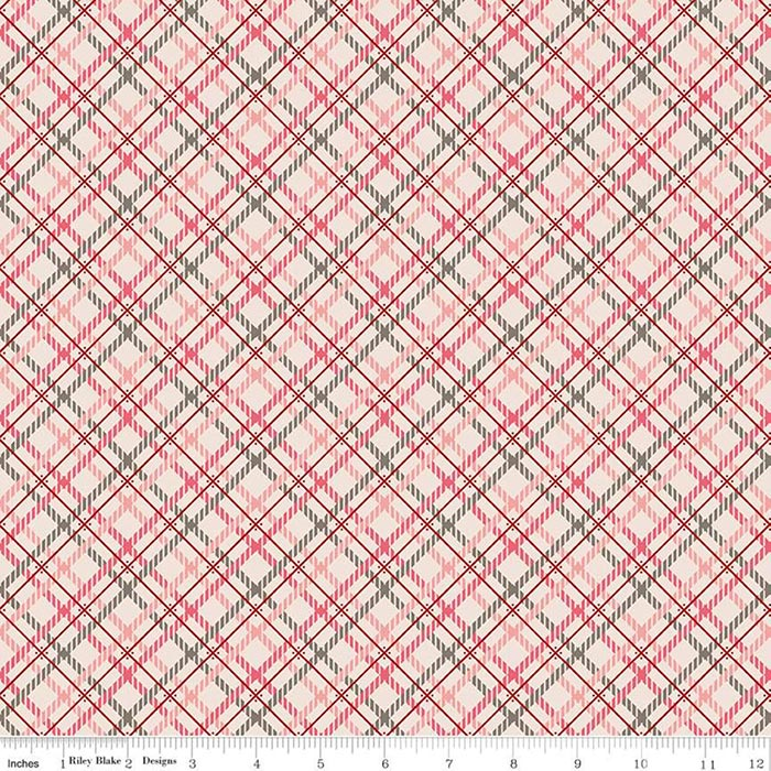 "Prim 108"" Quilt Back - Pink Plaid, available at Quilted Joy"