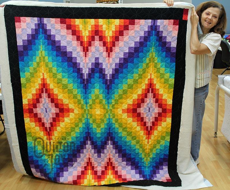 Tina's Rainbow Bargello Quilt