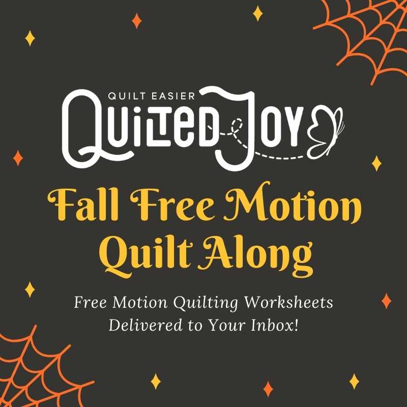 Quilted Joy Fall Free Motion Quilt Along - Free motion quilting worksheets delivered to your inbox