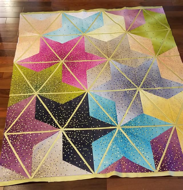 Tina's Starry Leaves Quilt