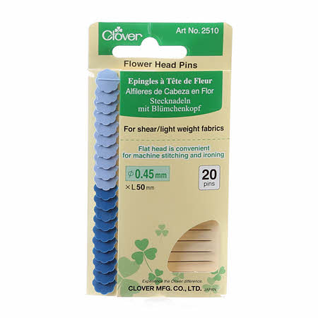 Clover Flower Head Pins for Shear and Light Weight Fabrics