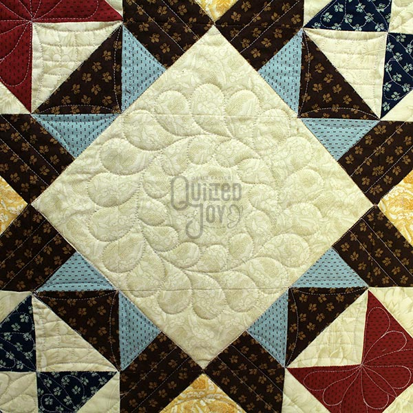 Feathered Wreath quilted in Cynthiana quilt by Angela Huffman