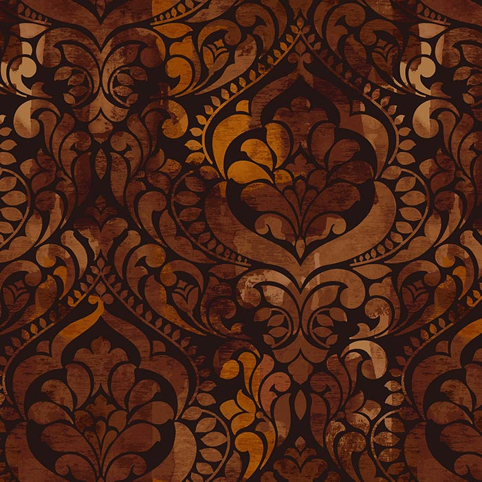 "Fiorenza 108"" Quilt Back Chocolate 5236-38"