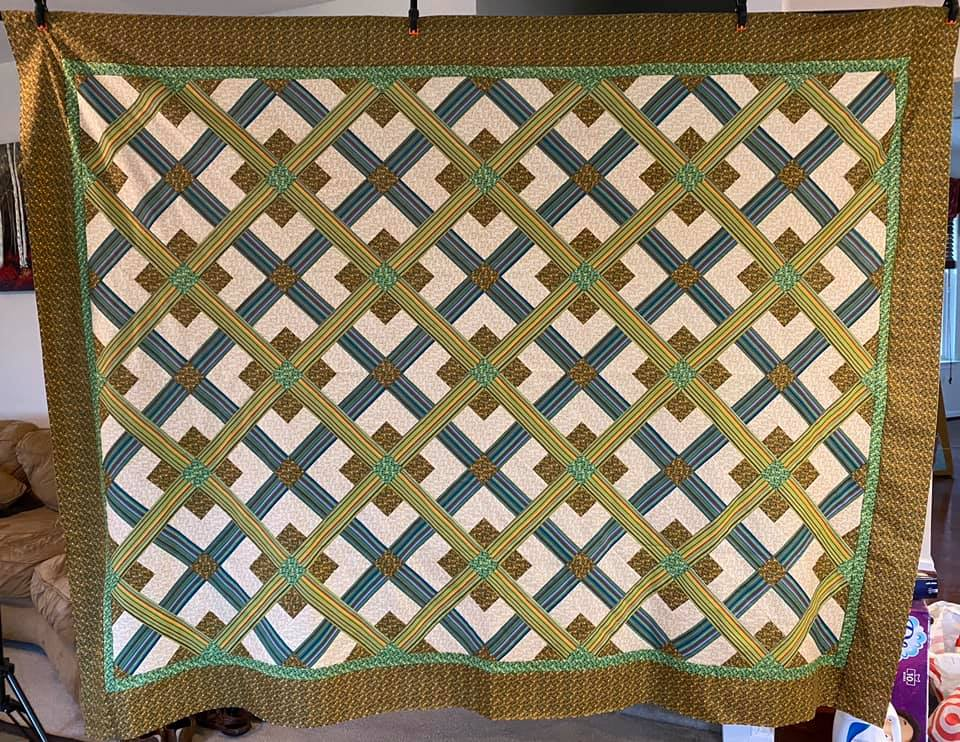 How Would You Quilt It? Susan's Stripey Quilt