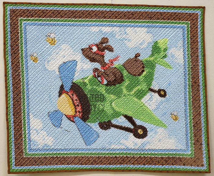 Zig Flying Ace Panel with Chenille