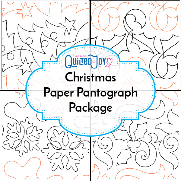 Christmas Paper Pantograph Package available at Quilted Joy