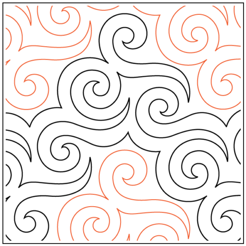 Abracadabra Paper Pantograph, available at Quilted Joy