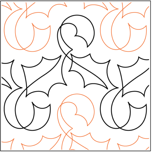 Holly Ribbon Paper Pantograph, available at Quilted Joy