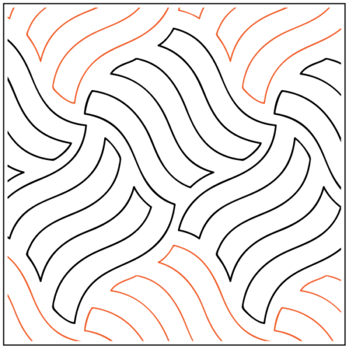 Wavy Gravy Paper Pantograph, available at Quilted Joy