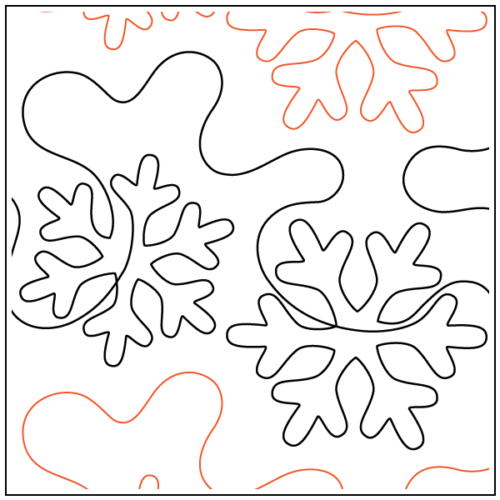 White Out Paper Pantograph available at Quilted Joy