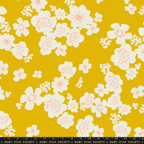 """Whatnot 108"""" Wide Hanna Wide Back Goldenrod by Ruby Star Society, available at Quilted Joy"""