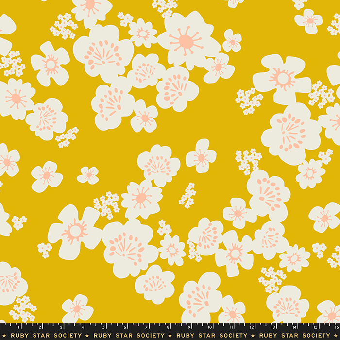 "Whatnot 108"" Wide Hanna Wide Back Goldenrod by Ruby Star Society, available at Quilted Joy"