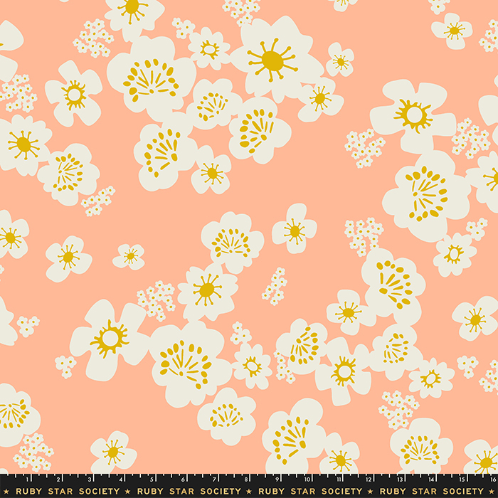 "Whatnot 108"" Wide Hanna Wide Back Peach by Ruby Star Society, available at Quilted Joy"