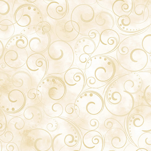 """Swirling Splendor 108"""" Wide Back Cream #9705W07B, available at Quilted Joy"""