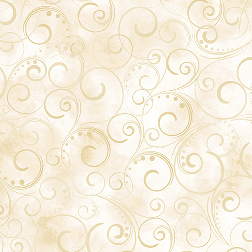 "Swirling Splendor 108"" Wide Back Cream #9705W07B, available at Quilted Joy"