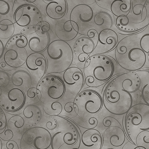 "Swirling Splendor 108"" Wide Back Gray Smoke #9705W13B, available at Quilted Joy"