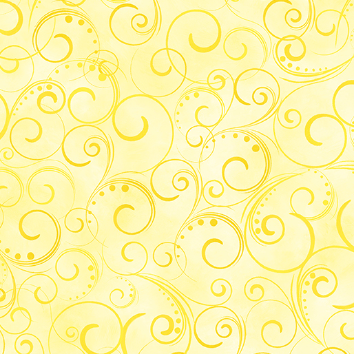 "Swirling Splendor 108"" Wide Back Light Yellow #9705W33B, available at Quilted Joy"