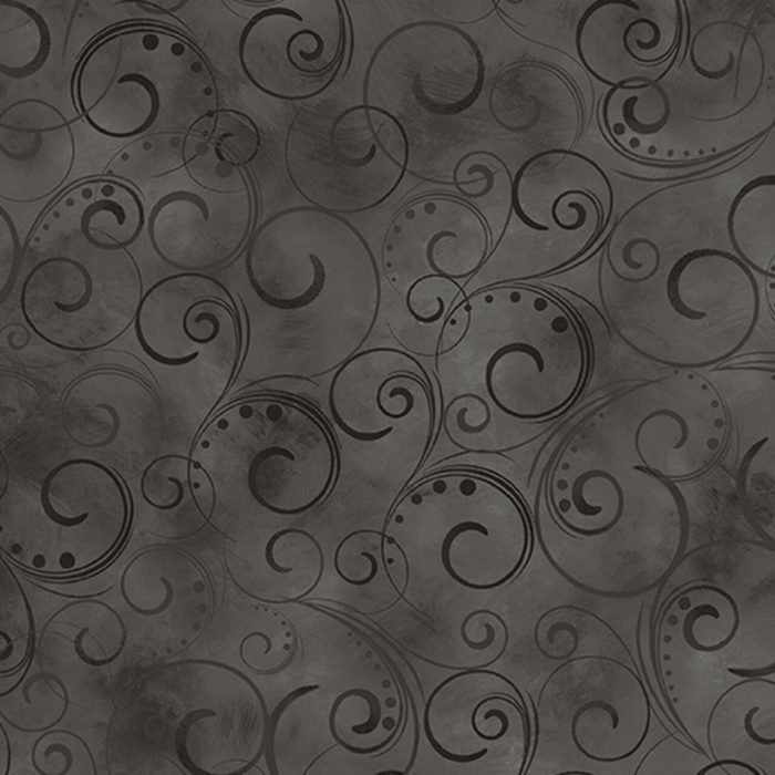 """Swirling Splendor 108"""" Wide Back Charcoal #9705W98B, available at Quilted Joy"""