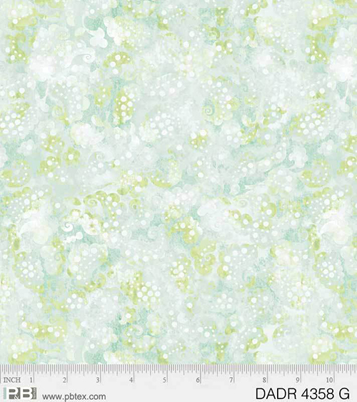 "Day Dream 108"" Green Wide Back Fabric, available at Quilted Joy"