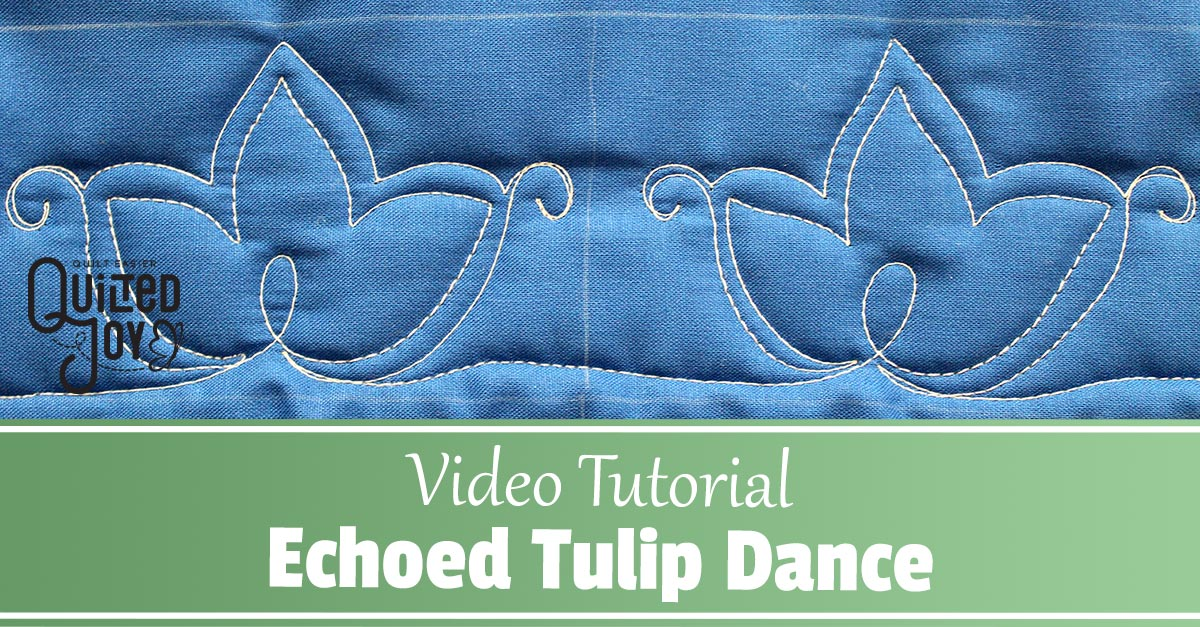 How to Quilt the Echoed Tulip Dance Border Design