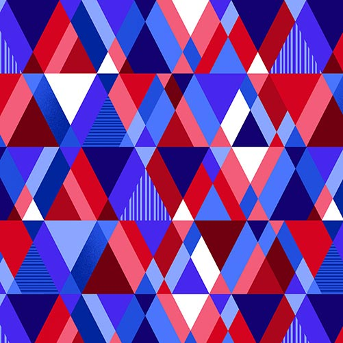 """Modern Pyramid 108"""" Patriotic, available at Quilted Joy"""