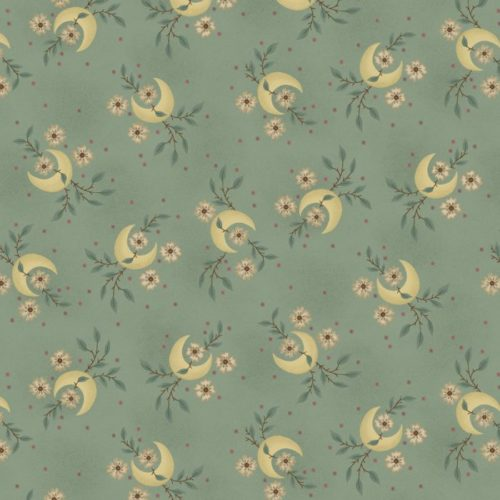 """Parlor Pretties 108"""" Wide Aqua Quarter Moon Wide Backing Fabric by Kim Diehl, available at Quilted Joy"""