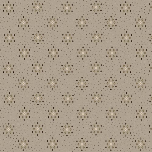 "Parlor Pretties 108"" Wide Grey Diamond Geometric Wide Backing Fabric by Kim Diehl, available at Quilted Joy"