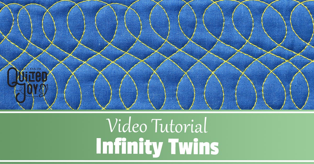 Learn how to quilt the Infinity Twins Design in this video tutorial from Angela Huffman
