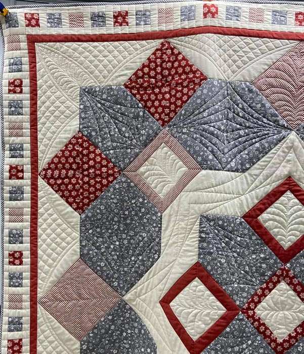 Athina's Mama Gypsy Quilt, quilted by Athina!
